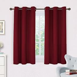NICETOWN Burgundy Bedroom Curtains Blackout Draperies, Home