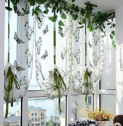 Butterfly Roman Curtains Kitchen Balloon Shades Cafe Rustic