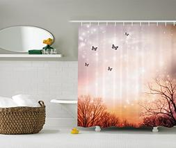Ambesonne Butterfly Shower Curtain Fantasy Decor by, Dreamy