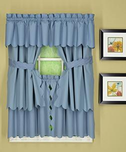 """Today's Curtain Orleans 30"""" Tier Pair with Tiebacks Tambour"""
