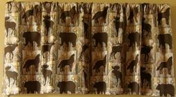 Cabin/western valance,rustic with bears,deer,moose and wolve