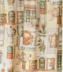 Cafe Au Lait 3-Pc Curtain Tier and Valance Set Kitchen Coffe