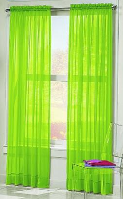 "No. 918 Calypso Sheer Voile Rod Pocket Curtain Panel, 59"" x"