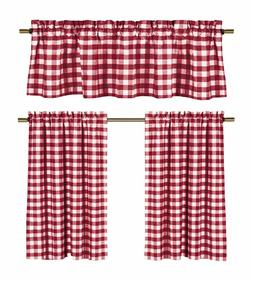 Candy Apple Red & White Country Checkered Plaid Kitchen Tier
