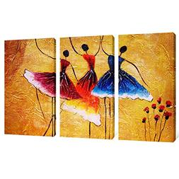 Canvas Prints 3 Panels Beautiful Ballet Dance Abstract Spain