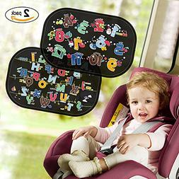Car Window Sun Shade ,Kids Universal Easy Use Stastic Cling