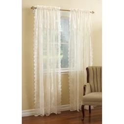 "Carly Lace - 63"" curtain panel - Color : ECRU"