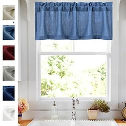 Casual Weave Tailored Valance Cafe Curtains Semi Sheer Kitch