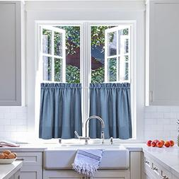 24 inches Kitchen Tier Curtains Windows Closet Casual Weave