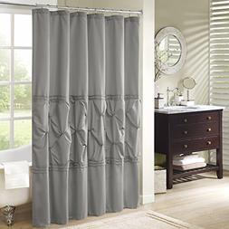 Comfort Spaces – Cavoy Shower Curtain – Gray – Tufted