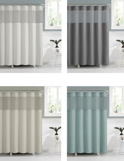 VCNY Celine Fabric Shower Curtain With Attached PEVA Liner -