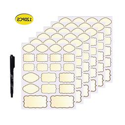 Nardo Visgo 120-Pack Colored Chalkboard labels Stickers in A