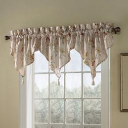 United Curtain Co. Chantelle Triple Ascot Valance in Natural