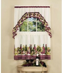 Chardonnay 57 Valance and Tier Set, 57 W x 24 D