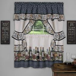 Achim Home Furnishings Chateau Window Curtain Cottage Set, 5