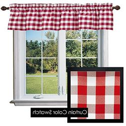 ArtOFabric Checkered Polyester Curtain Valance 58-Inch by 14