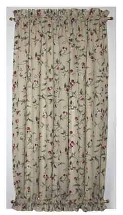 Cherry Blossoms Door Panel Curtain With Tie Back 40-Inch-by-