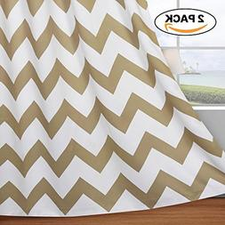 Flamingo P Chevron Blackout Curtains Thermal Insulated Gromm