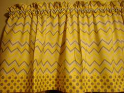 Chevron Yellow Gray Polka Dot Livingroom Bedroom Kitchen Win
