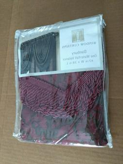 "CHF Window Curtain Danbury One Waterfall Valance 47""w X 38""L"