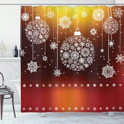 Christmas Shower <font><b>Curtain</b></font> Snowflakes by <