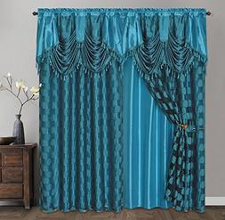 CIRCLE CYCLE. Clipped voile/ voile jacquard window curtain p