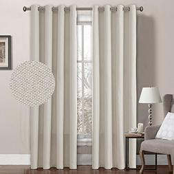 Linen Curtain Natural Look Thermal Insulated Grommet Room Da