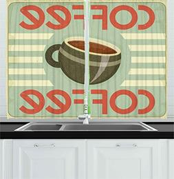 Ambesonne Coffee Decor Collection, Retro Cover for Coffee Me