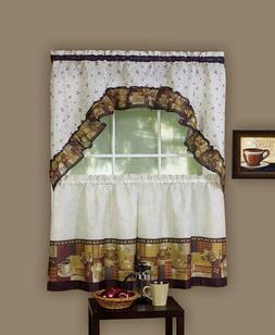 Achim Home Furnishings Coffee Tier And Swag Window Treatment