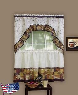 """Achim Home Furnishings CFTS24BW12 57"""" x 24"""" Coffee Tier and"""