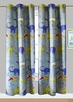 Fancy Linen Collection 2 panel curtain set with grommet DINO