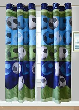 Fancy Linen Collection 2 panel Curtain set With grommet Socc
