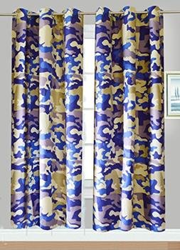 Fancy Linen Collection 2 panel curtain set with Grommet Camo