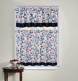 Regal Home Collection Chef 3 Piece Kitchen Curtain Tier and