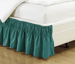 Fancy Collection Easy Fit Bed Ruffle wrap Around Elastic Bed