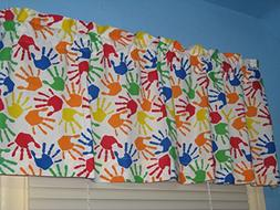 Colorful Handprints Handmade 100% Cotton Back to School Wind