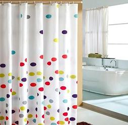 Ufriday Colorful Polka Dots Shower Curtain,Water-Repellent a