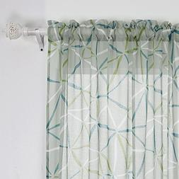 Deconovo Colorful Traingle Pattern Curtains Rod Pocket Drape