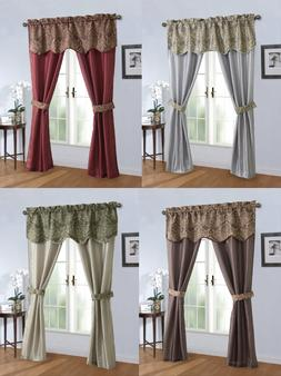 Complete 5 Pc. Sheer Window in a Bag Curtain & Valance Set -