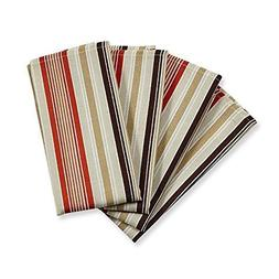 """Coral Beach Stripe Napkins 18""""x18"""" 4 Pack by Colordrift"""