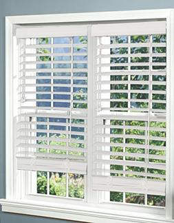 Corded, 2 inch Faux Wood Blind,  White, 60W x 48L