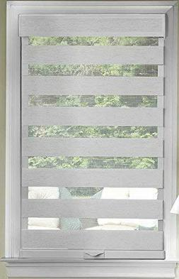 Achim Home Furnishings Cordless Celestial Sheer Double Layer
