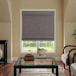 Cordless Fabric Roman Shade Dark Gray 33x64