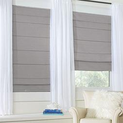 BrylaneHome Cordless Large Fold Woven Blackout Roman Shade