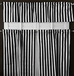 lovemyfabric Cotton Blend Striped Print 3 Piece Kitchen Curt