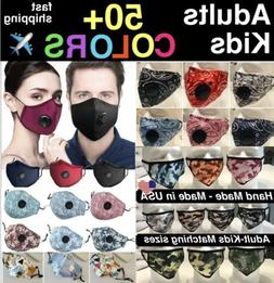 Cotton Face Mask  Activated Carbon Mask With 2 Filter Washab