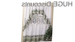 CHF & You Cotttage Ivy Country Curtain Tier And Swag Set, Mu