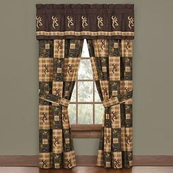 Browning Country Buckmark Rod Pocket Curtains Drapes