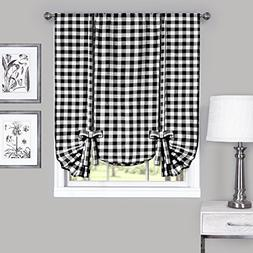 Country Check Plaid Gingham Custom Fit Window Curtain Treatm