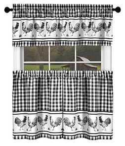country home plaid rooster kitchen